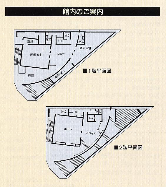 松風ギャラリー平面図