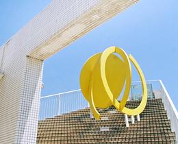 松風ギャラリーのモニュメント